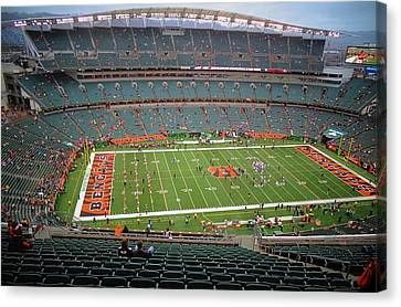 Wide Receiver Canvas Print - Paul Brown Stadium by Dan Sproul