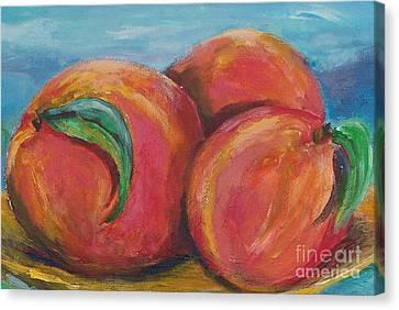 Peaches Canvas Print by Eric  Schiabor
