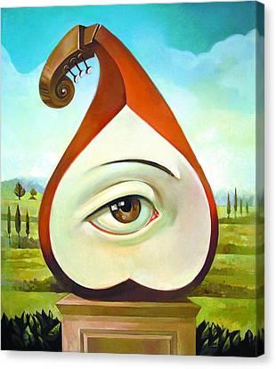 Musical Pear Canvas Print by Filip Mihail