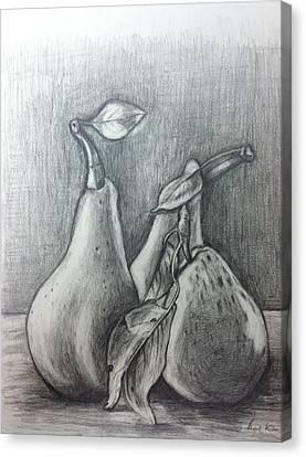 Pears Canvas Print by Hae Kim