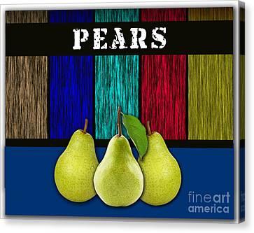 Pears Canvas Print by Marvin Blaine
