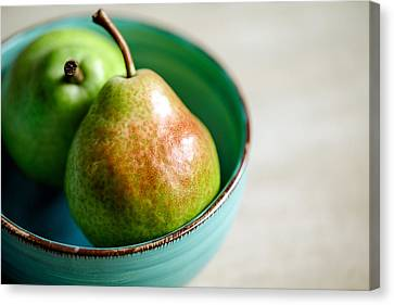 Pears Canvas Print by Nailia Schwarz