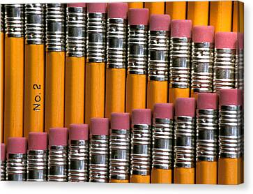 #2 Pencils  Standing Up Canvas Print by Anonymous