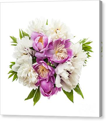 Peony Flower Bouquet  Canvas Print