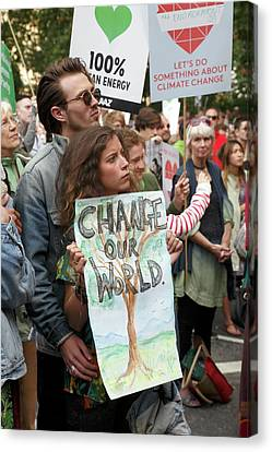 People's Climate March Canvas Print