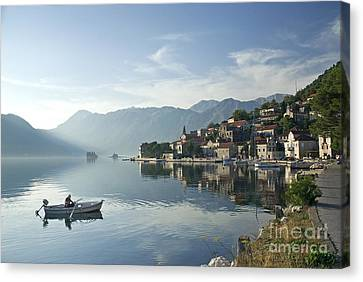 Perast Village In Montenegro Canvas Print