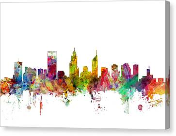 Australia Canvas Print - Perth Australia Skyline by Michael Tompsett