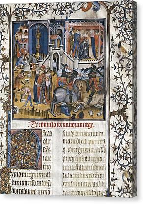 Petrarch 1304-1374. Italian Humanist Canvas Print by Everett