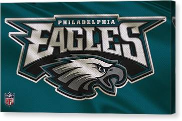 Player Canvas Print - Philadelphia Eagles Uniform by Joe Hamilton