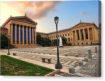 Philadelphia Museum Of Art Canvas Print by Olivier Le Queinec