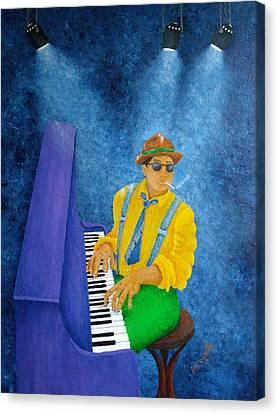 Piano Man Canvas Print by Pamela Allegretto