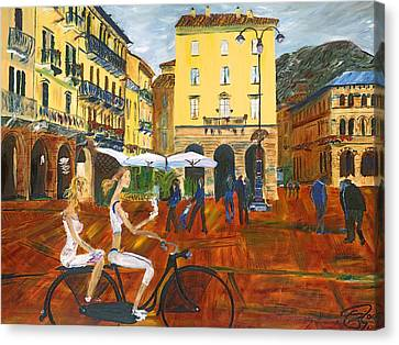 Piazza De Como Canvas Print by Gregory Allen Page