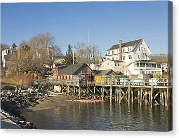 Pier In Tenants Harbor Maine Canvas Print