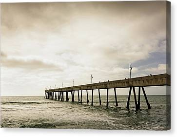 Pier In The Pacific Ocean, Pacifica Canvas Print by Panoramic Images