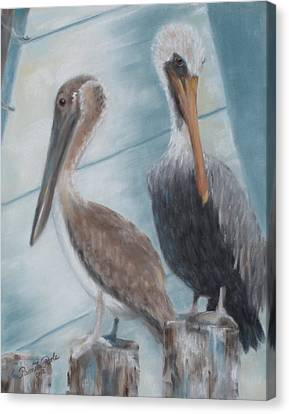 Pier Pals Canvas Print