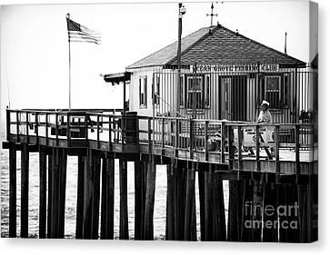 Pier View Canvas Print by John Rizzuto