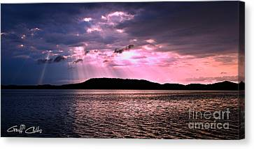 Pink Angel Rays -sunrise Canvas Print by Geoff Childs