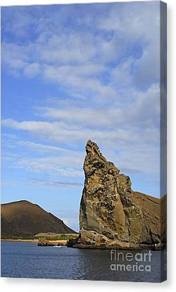 Pinnacle Rock Viewed From Sea Canvas Print by Sami Sarkis