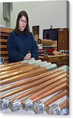 Pipe Organ Factory Canvas Print