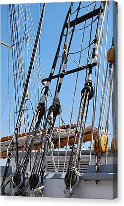 Canvas Print featuring the photograph Pirate Ship  by Ramona Whiteaker