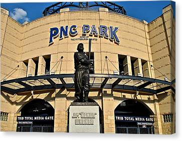 Pnc Park Canvas Print by Frozen in Time Fine Art Photography