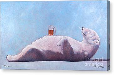 polar beer ... by Will Bullas Canvas Print by Will Bullas