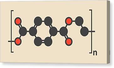 Polyethylene Polymer Molecule Canvas Print by Molekuul