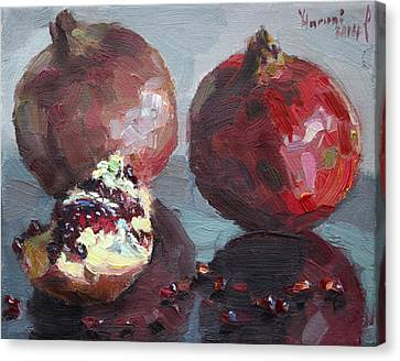 Pomegranates Canvas Print