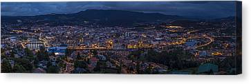 Canvas Print featuring the photograph Pontevedra Panorama From A Caeira by Pablo Avanzini