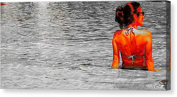 Pool Canvas Print by J Anthony