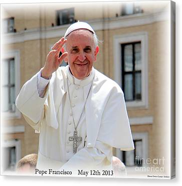Pope Francisco Canvas Print