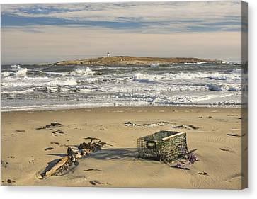 Popham Beach On The Maine Coast Canvas Print by Keith Webber Jr
