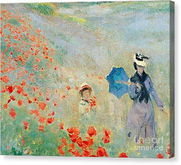Poppies At Argenteuil Canvas Print