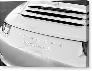 Porsche 911 Carrera S Rear Emblem Canvas Print by Jill Reger