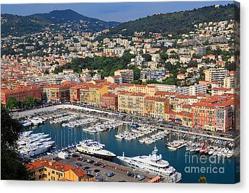 Port Du Nice Canvas Print by Inge Johnsson