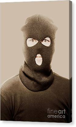 Portrait Of A Vintage Terrorist Canvas Print