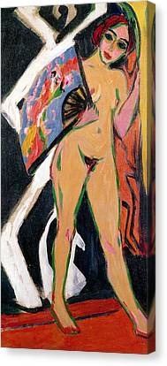 Portrait Of A Woman Canvas Print by Ernst Ludwig Kirchner