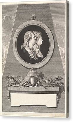 Portrait Of Louis Xvi, Marie Antoinette Canvas Print