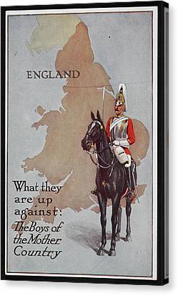 Postcard Circa 1905 - 1918 Canvas Print by British Library