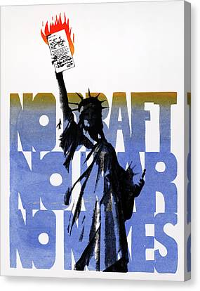 Poster Anti-war, C1975 Canvas Print by Granger