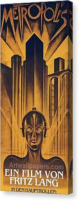 Poster From The Film Metropolis 1927 Canvas Print