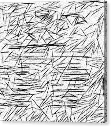 Etch A Sketch Canvas Print - Postmodern Abstraction by Jonathan Harnisch