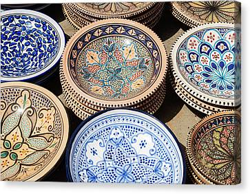 Pottery For Sale, Tabarka, Tunisia Canvas Print by Nico Tondini