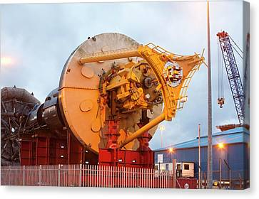 Power Buoy Wave Energy Device Canvas Print by Ashley Cooper