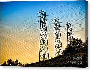 Power Lines Canvas Print by Amy Cicconi