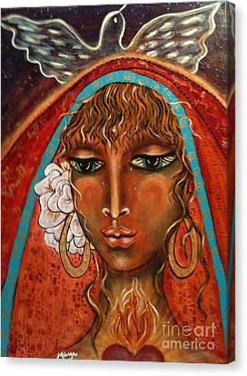 Pray For Peace Canvas Print by Maya Telford
