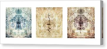 Prayer Flag Triptych Canvas Print by Carol Leigh