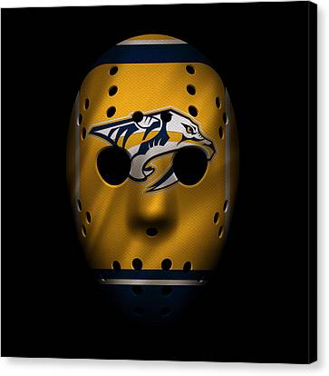 Predators Jersey Mask Canvas Print by Joe Hamilton