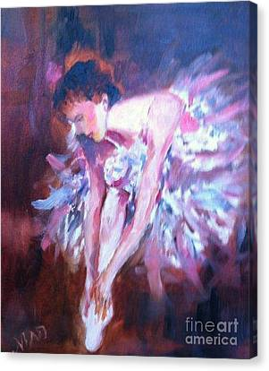 Canvas Print featuring the painting Preparing To Enchant by Marcia Dutton
