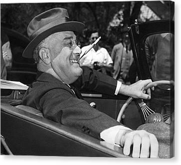 Politics Canvas Print - President Franklin Roosevelt by Underwood Archives